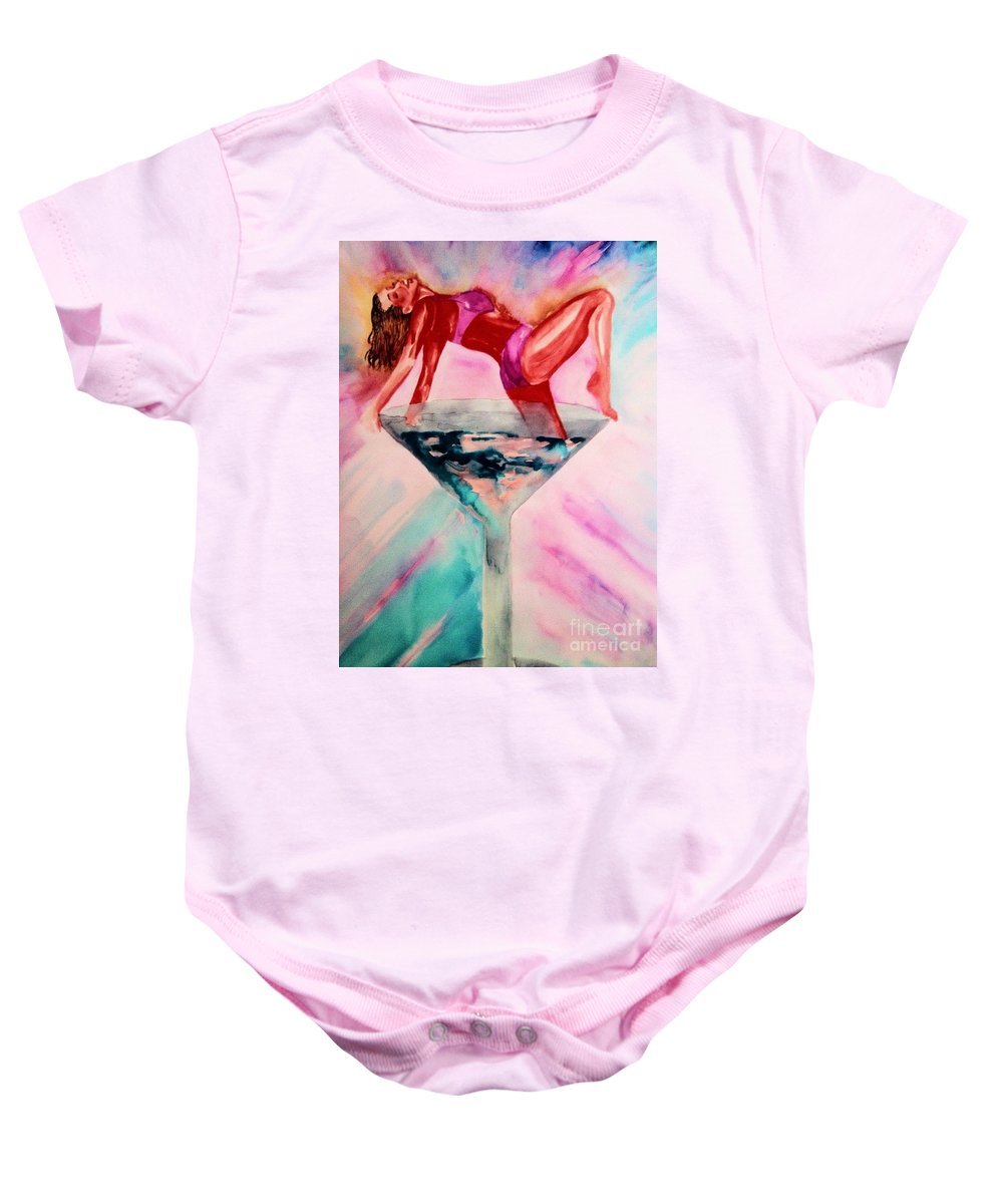 Sexy Baby Onesie featuring the drawing Forbidden Love by Melissa Darnell Glowacki