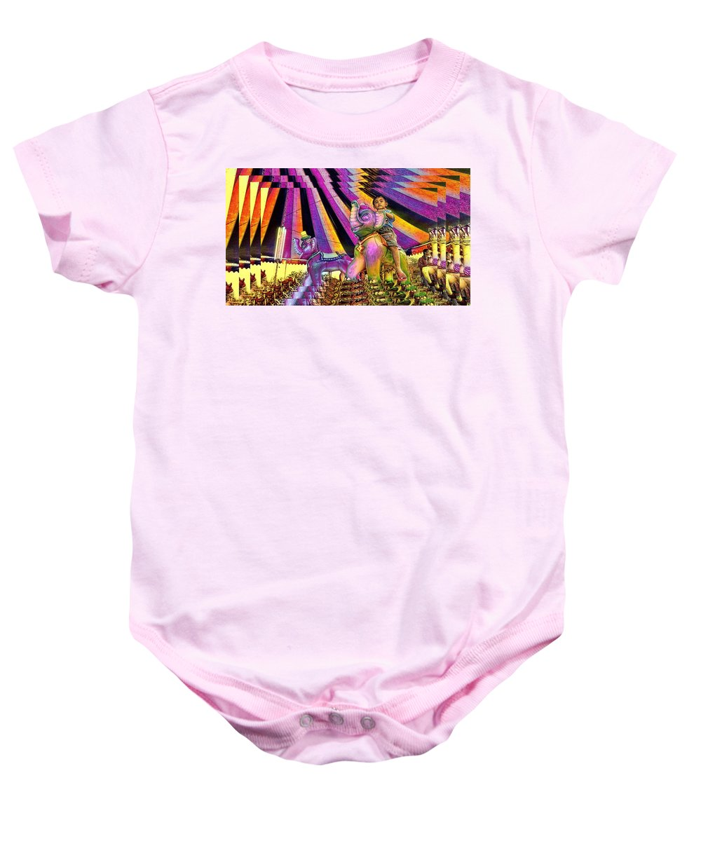 Fun Baby Onesie featuring the photograph Fun Of The Fair by Ian Gledhill
