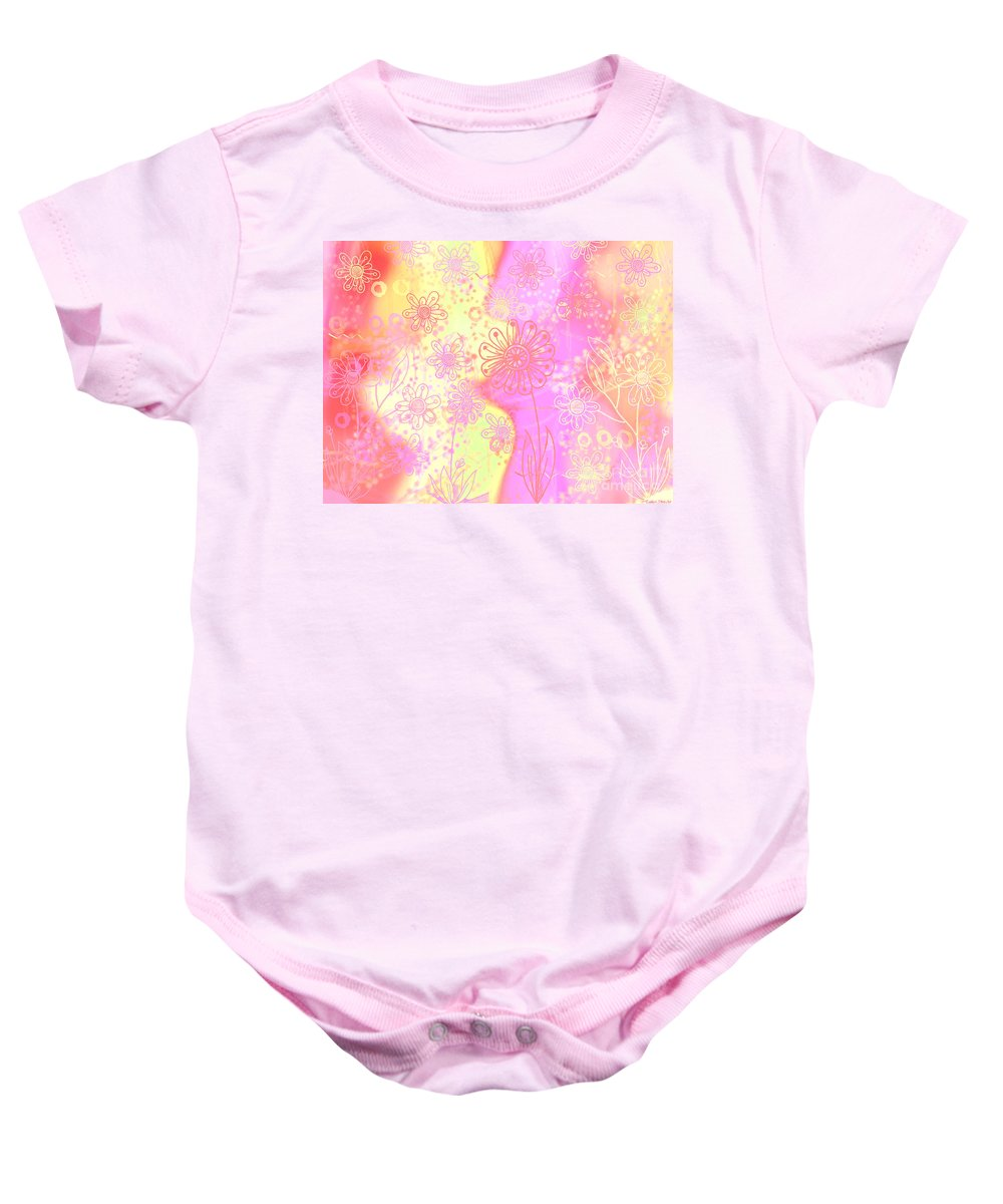 Abstract Baby Onesie featuring the photograph Girlz Only Abstract by Debbie Portwood