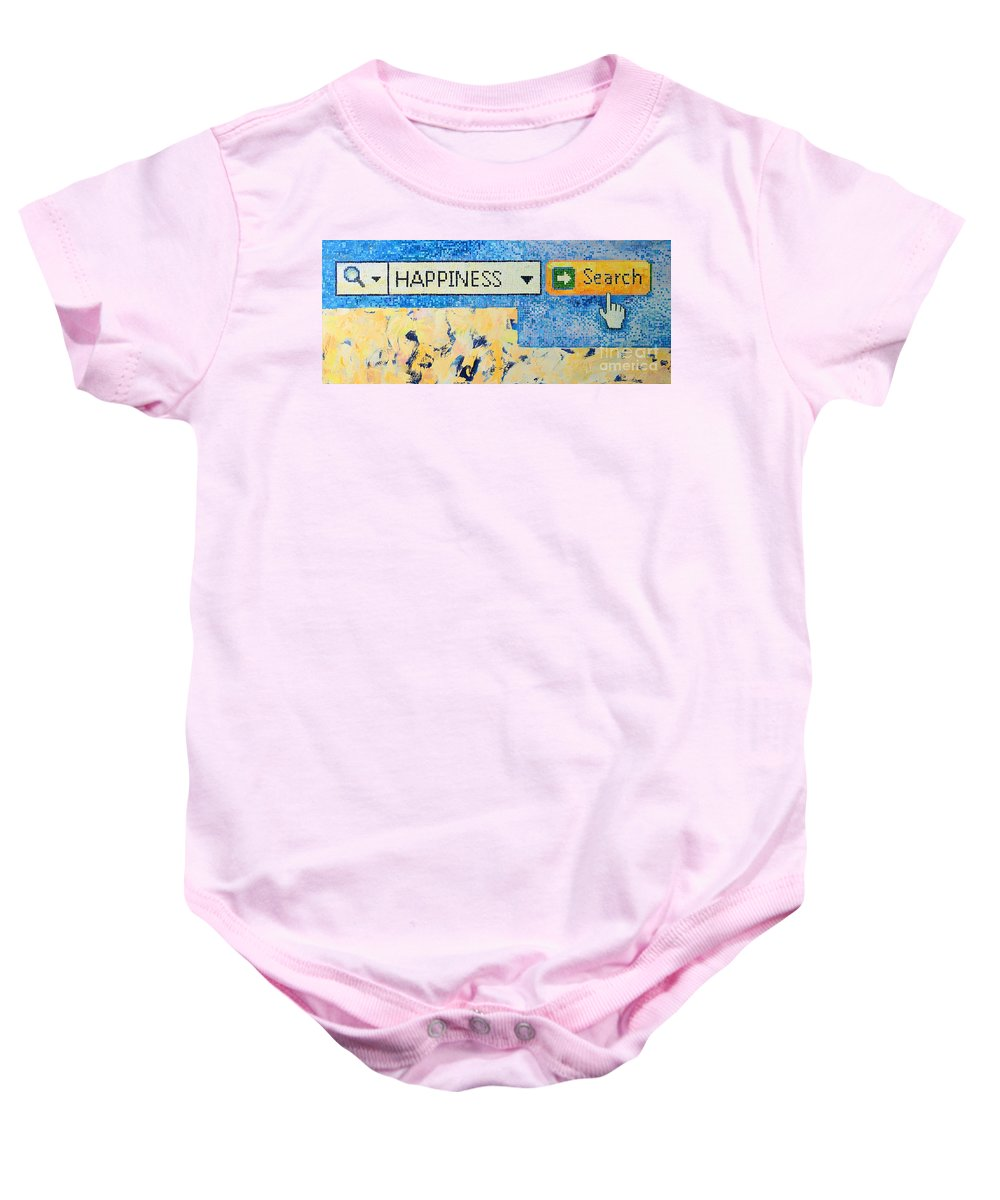Happiness Baby Onesie featuring the painting Happiness by Ana Maria Edulescu