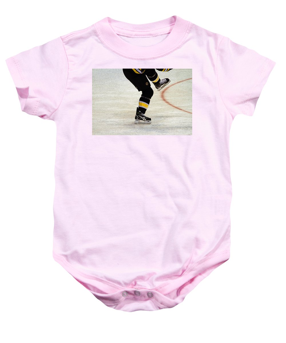 Hockey Baby Onesie featuring the photograph Hockey Dance by Karol Livote