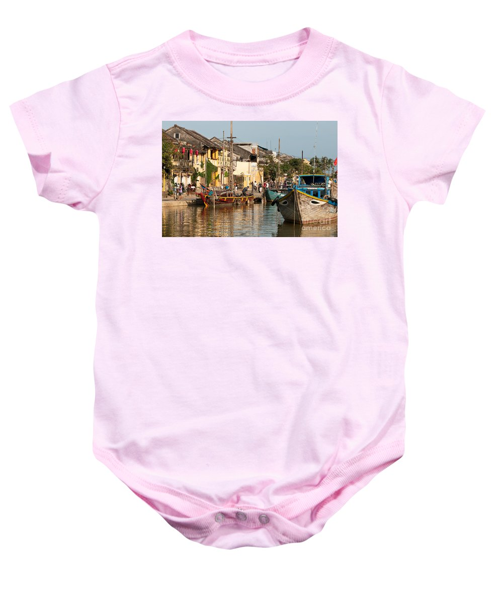 Vietnam Baby Onesie featuring the photograph Hoi An Fishing Boats 02 by Rick Piper Photography