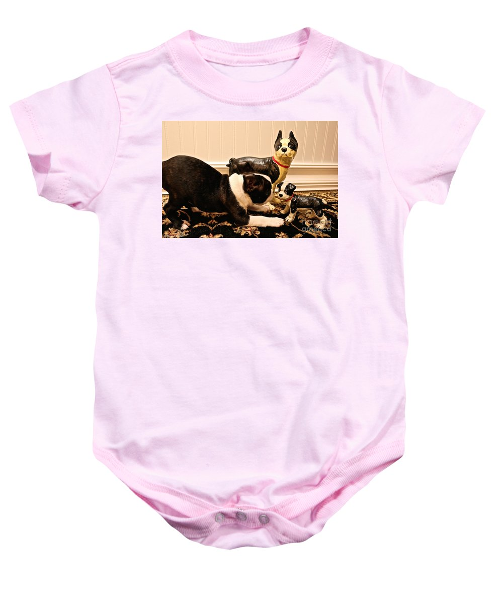 Animal Baby Onesie featuring the photograph Invitations by Susan Herber