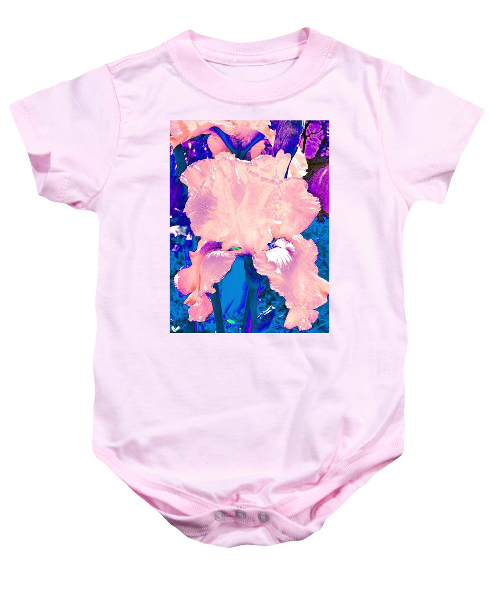 Flowers Baby Onesie featuring the photograph Iris 9 by Pamela Cooper