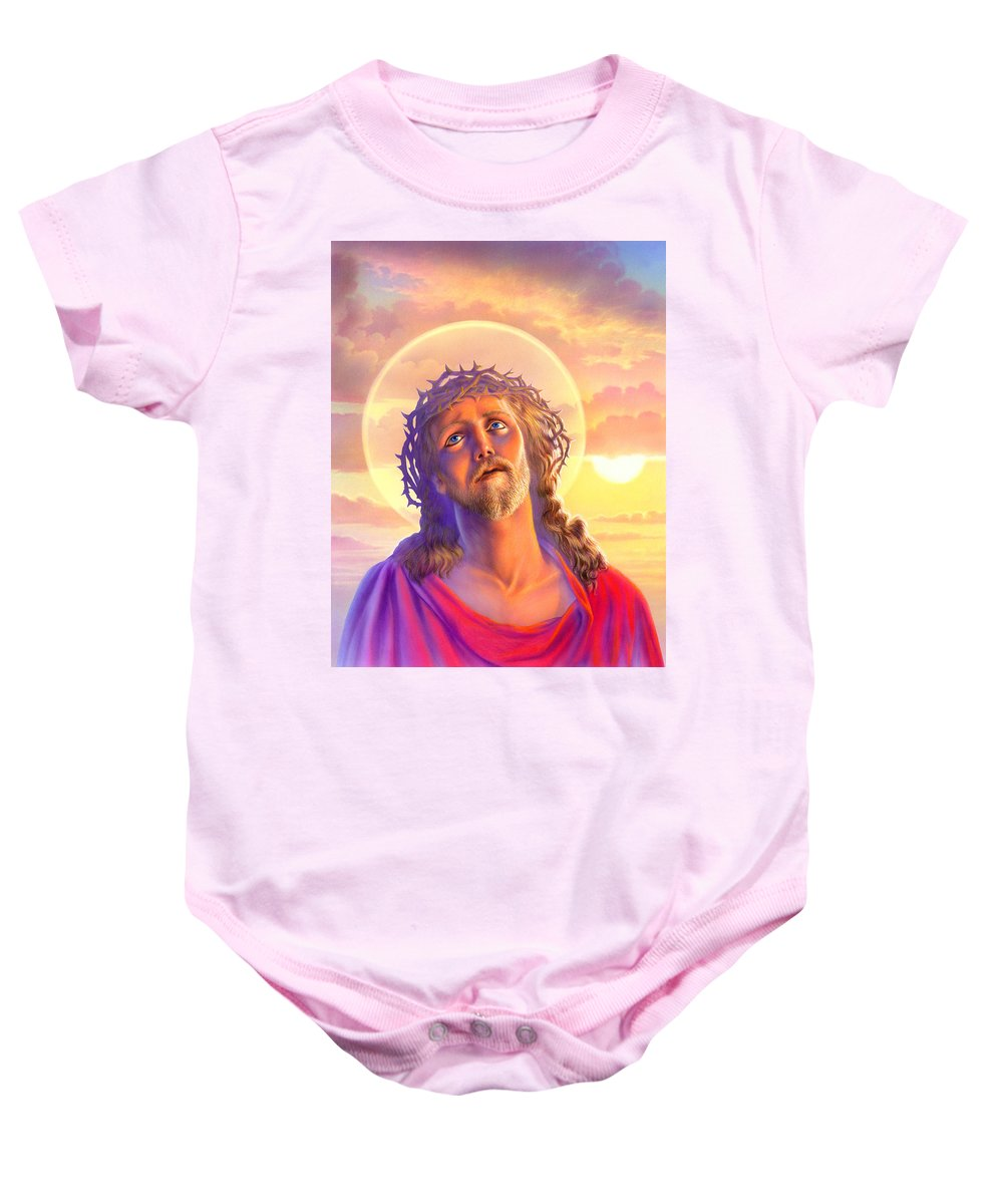Adult Baby Onesie featuring the photograph Jesus by Andrew Farley