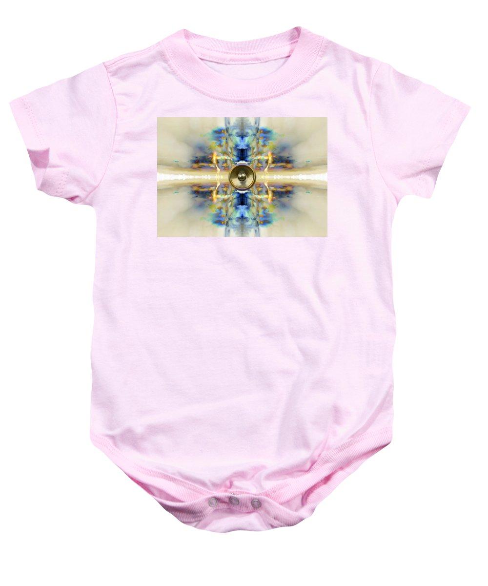 Blue Baby Onesie featuring the digital art Kaleido 4 by Steve Ball