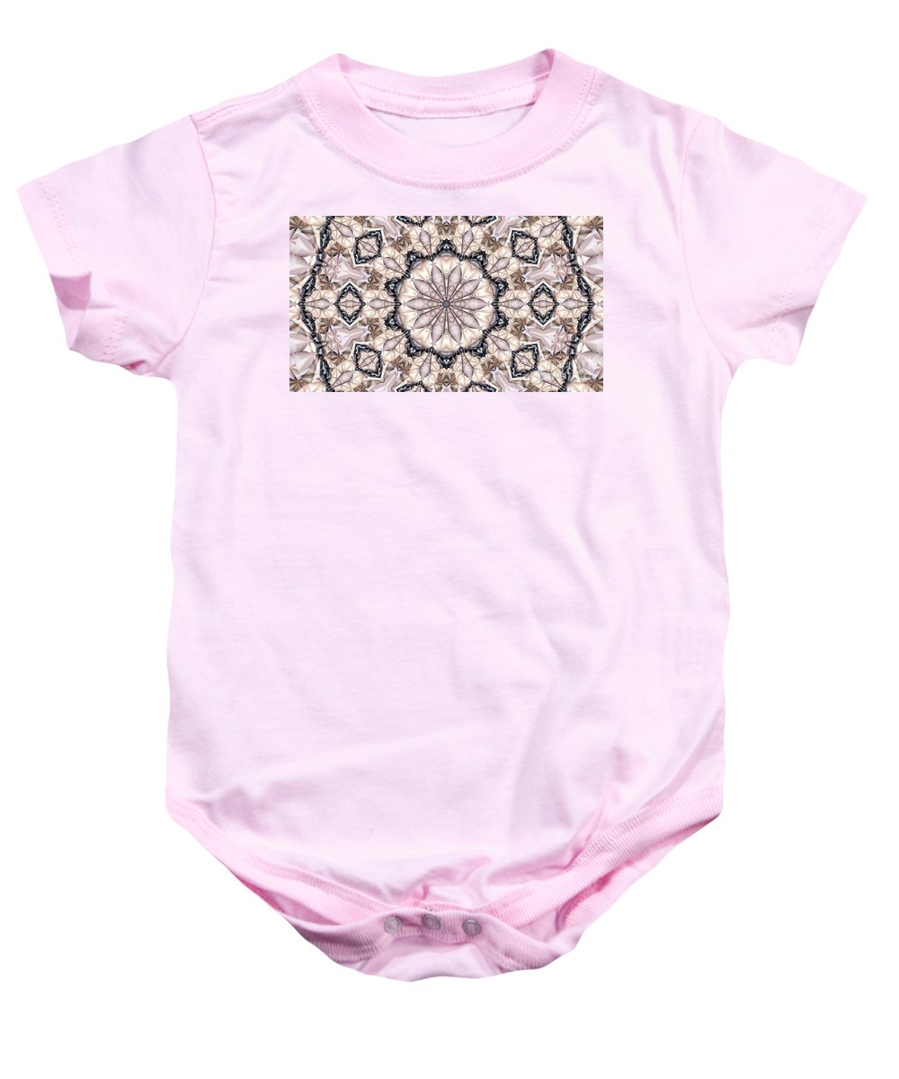 Kaleidoscope Baby Onesie featuring the photograph Kaleidoscope 21 by Ron Bissett