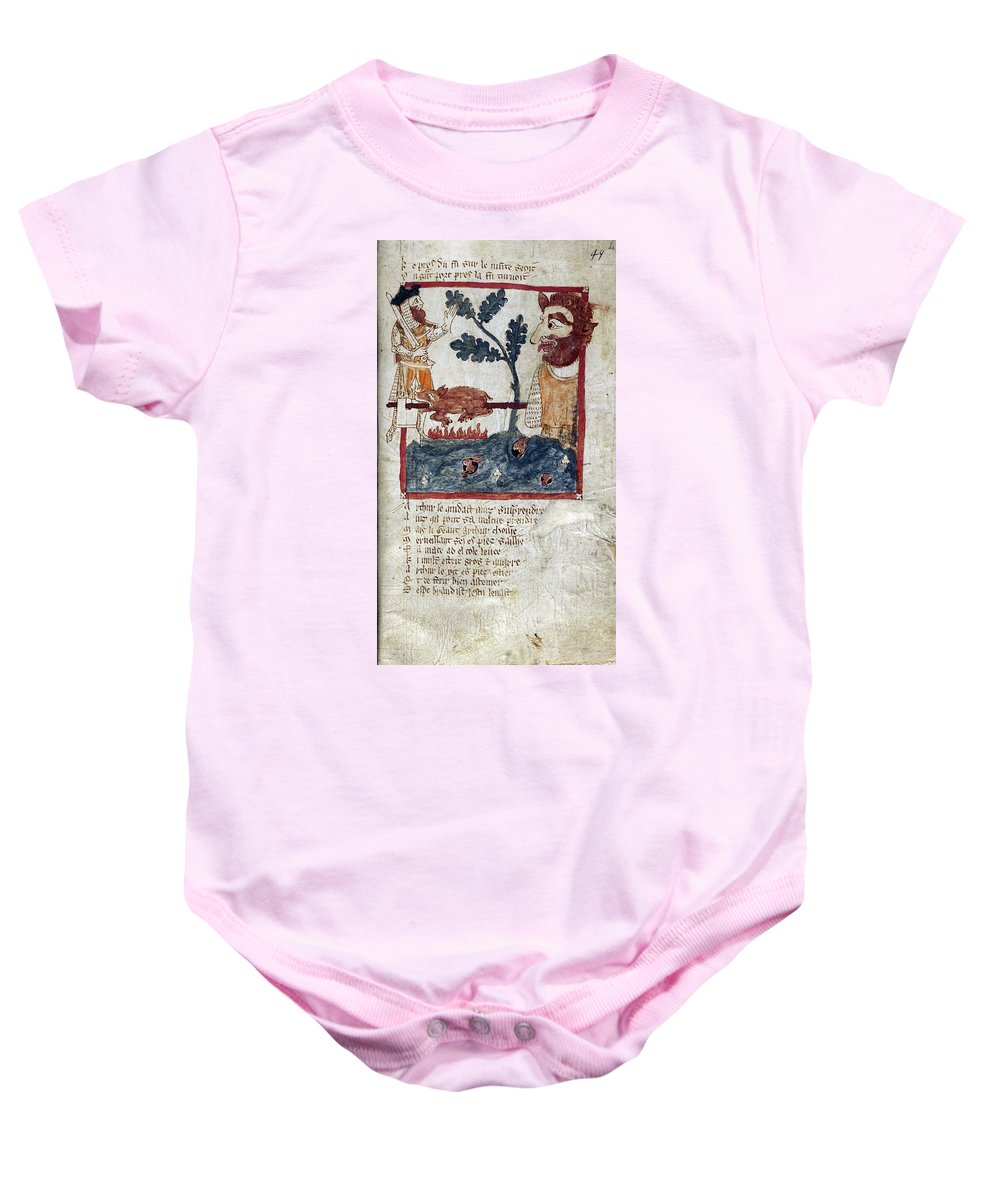 Literature Baby Onesie featuring the photograph King Arthur And Giant by British Library