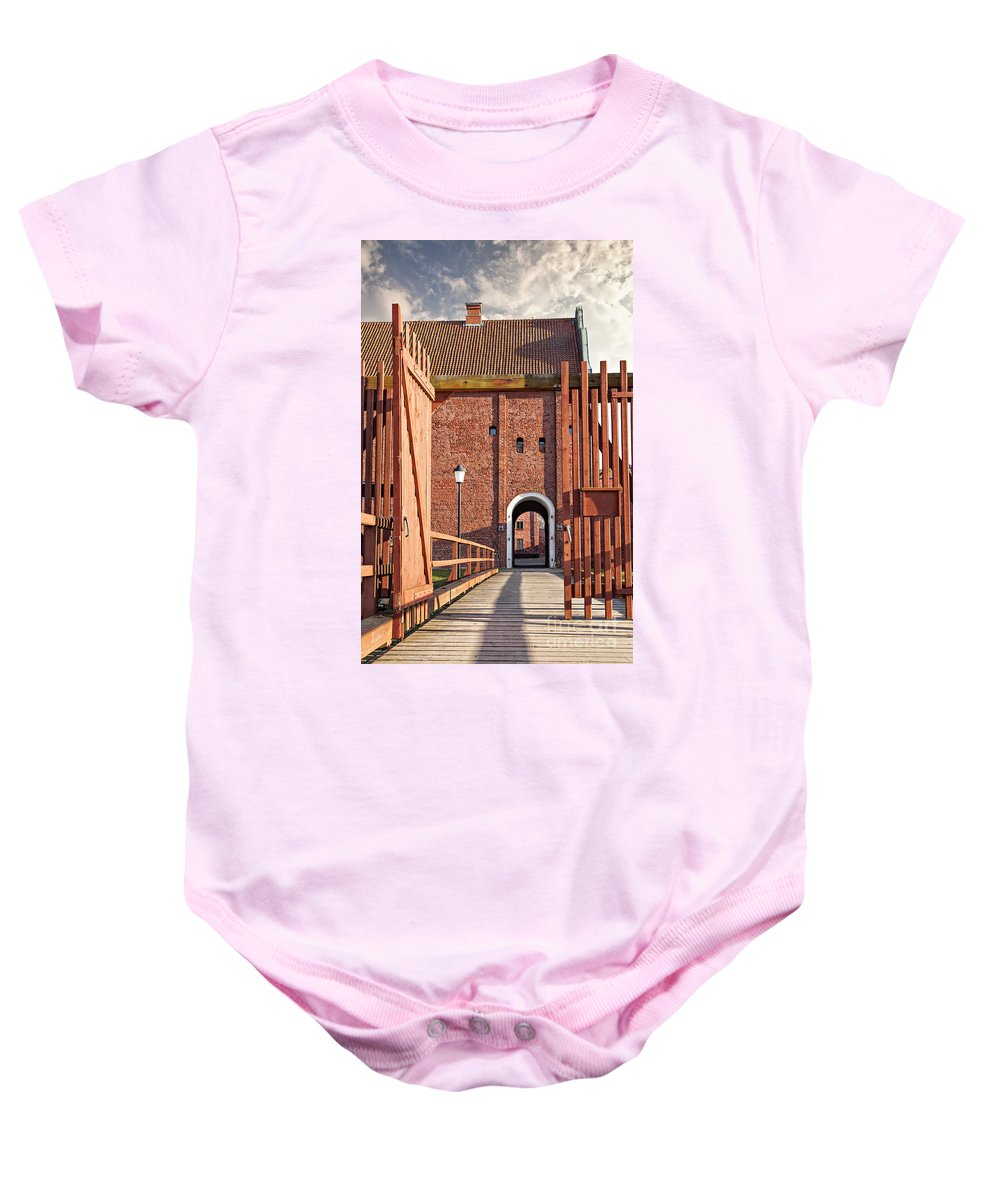 Museum Baby Onesie featuring the photograph Landskrona Citadel In Sweden by Sophie McAulay