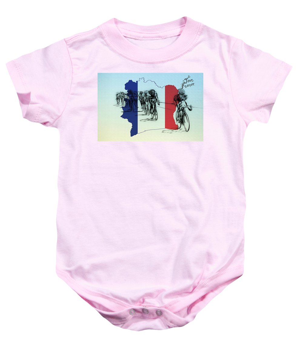 Bike Baby Onesie featuring the photograph Le Tour De France by Bill Cannon