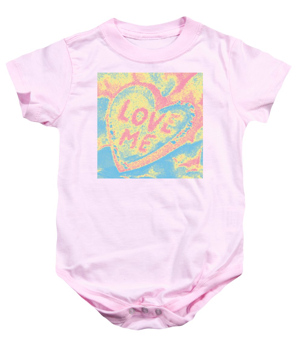 Digital Art Baby Onesie featuring the photograph Love Me by Marian Bell