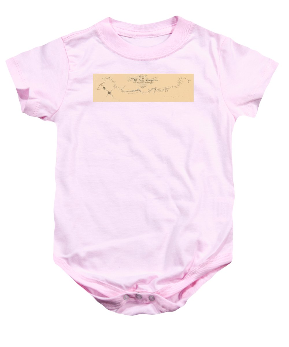 Map Of The Red River Baby Onesie featuring the photograph Map Of The Red River 1806 by Andrew Fare