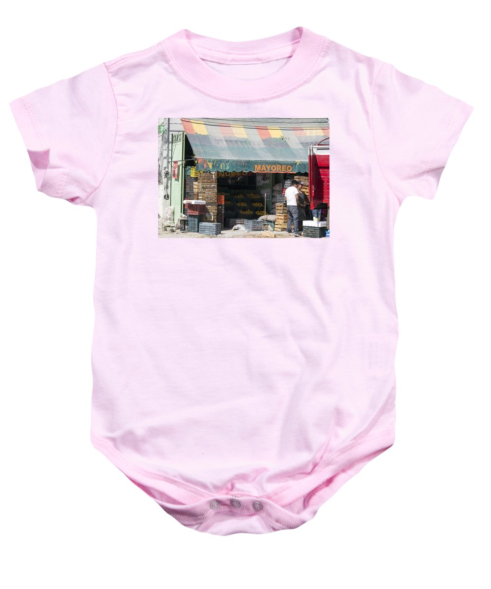 Baby Onesie featuring the photograph Mayoreo Wholesale Mexico by Cathy Anderson