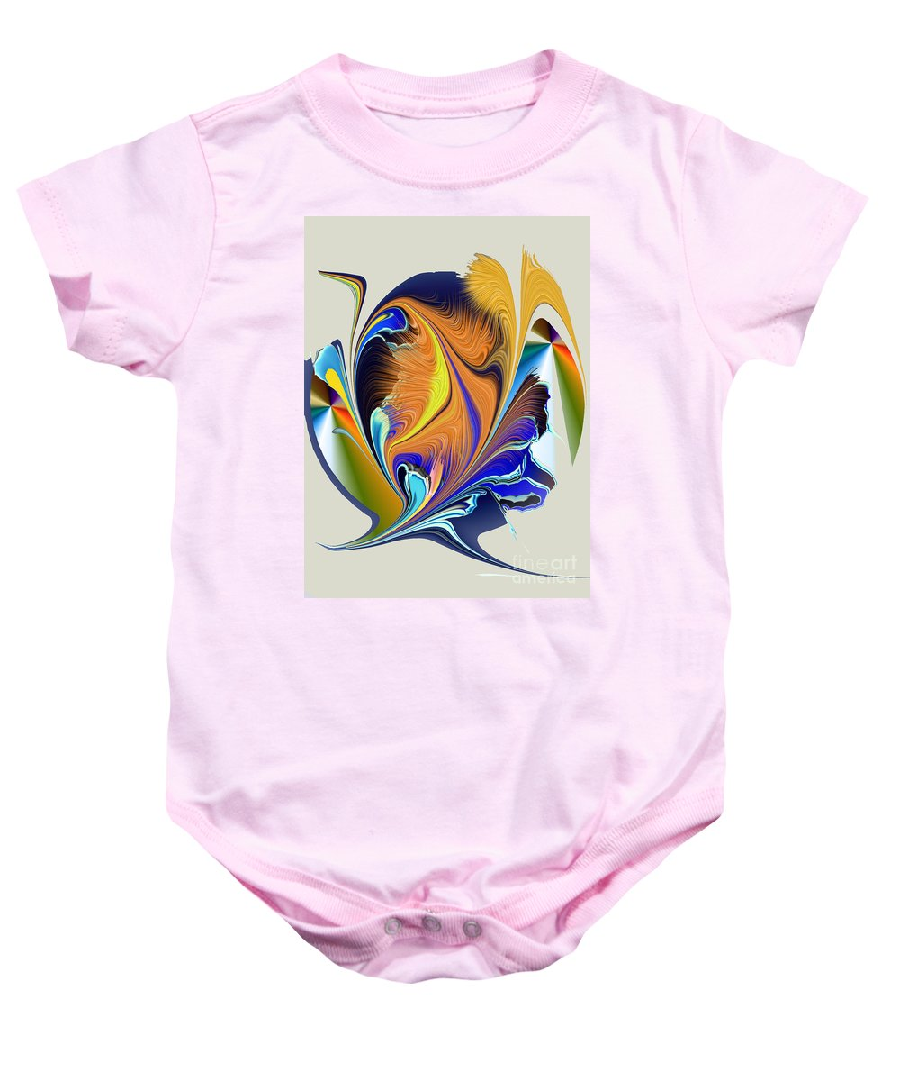Baby Onesie featuring the digital art No. 400 by John Grieder
