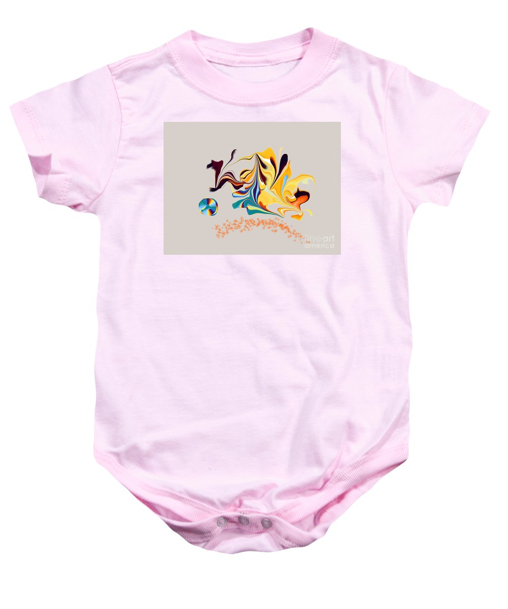 Baby Onesie featuring the digital art No. 471 by John Grieder