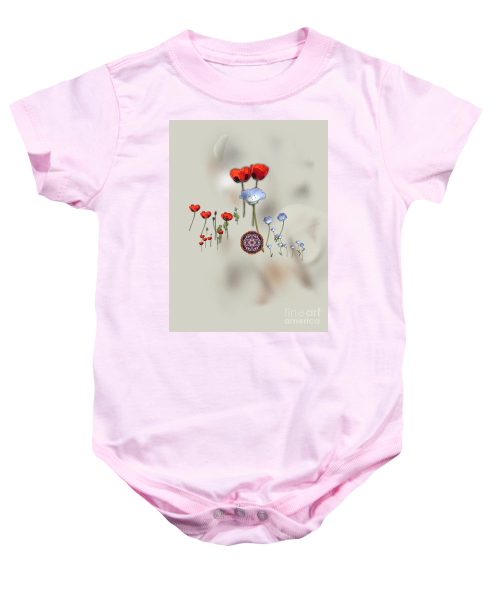 Baby Onesie featuring the digital art No. 473 by John Grieder