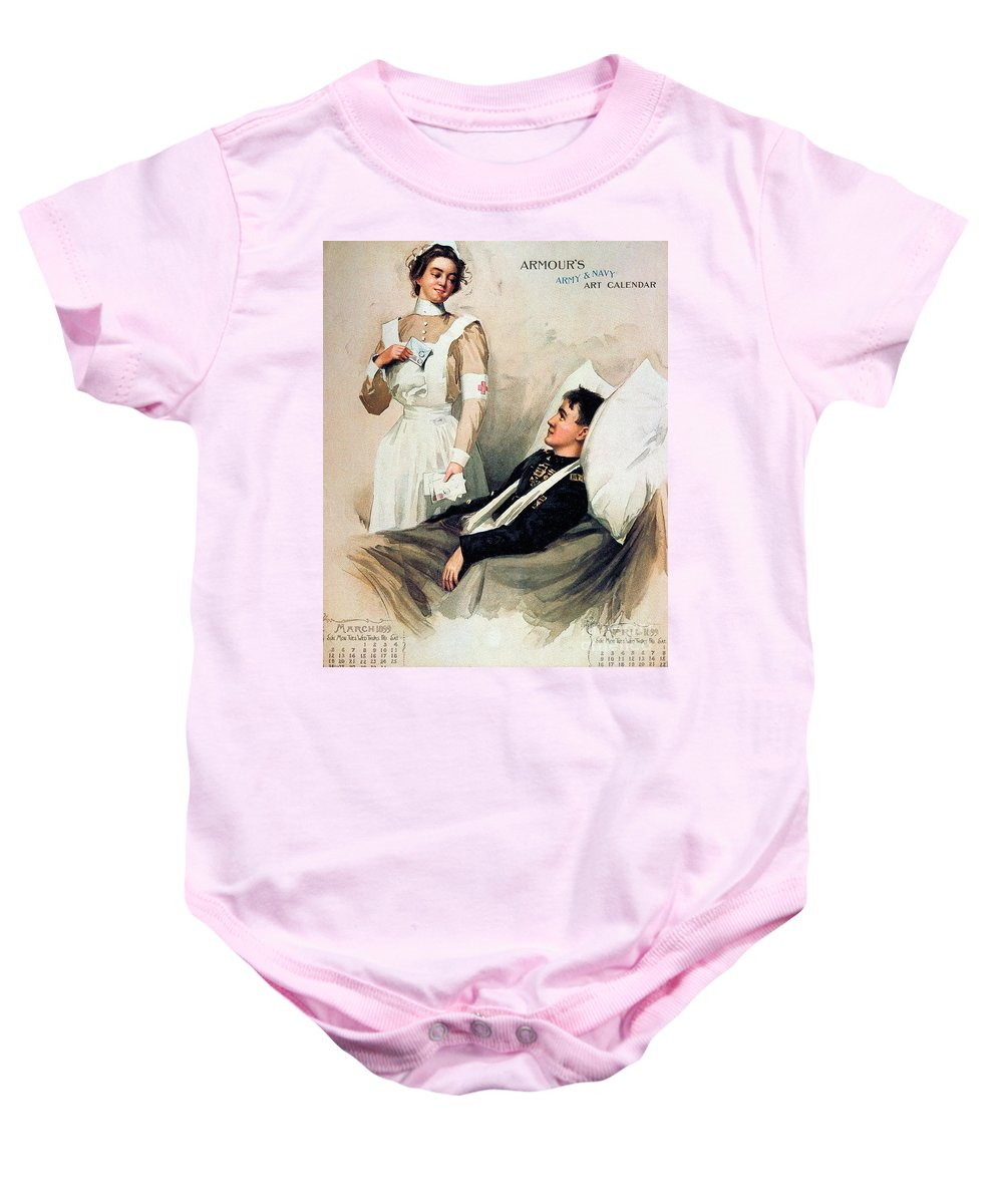 1899 Baby Onesie featuring the photograph Nurse: Calendar, 1899 by Granger
