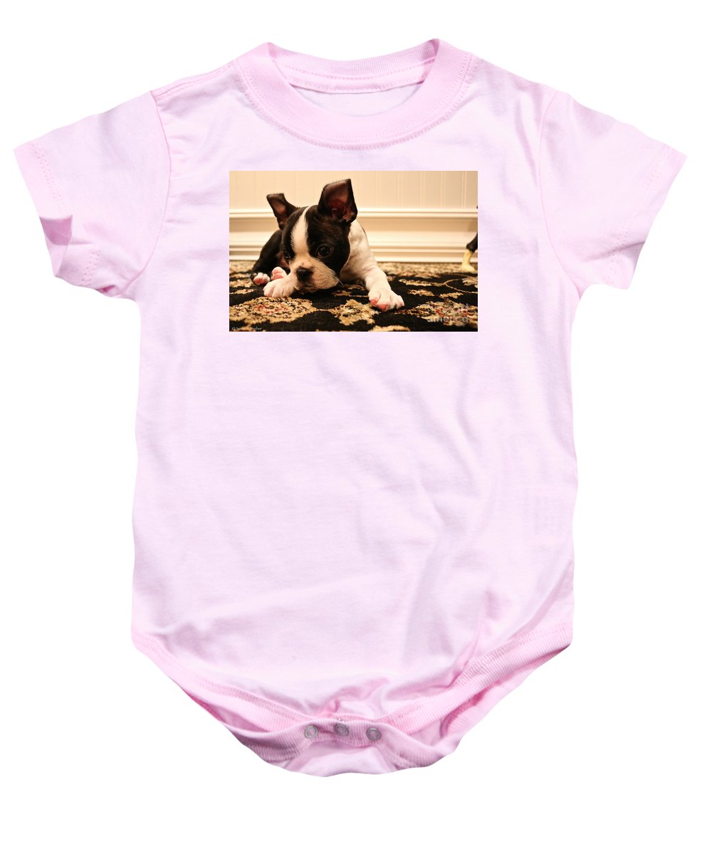 Animal Baby Onesie featuring the photograph Overtired by Susan Herber