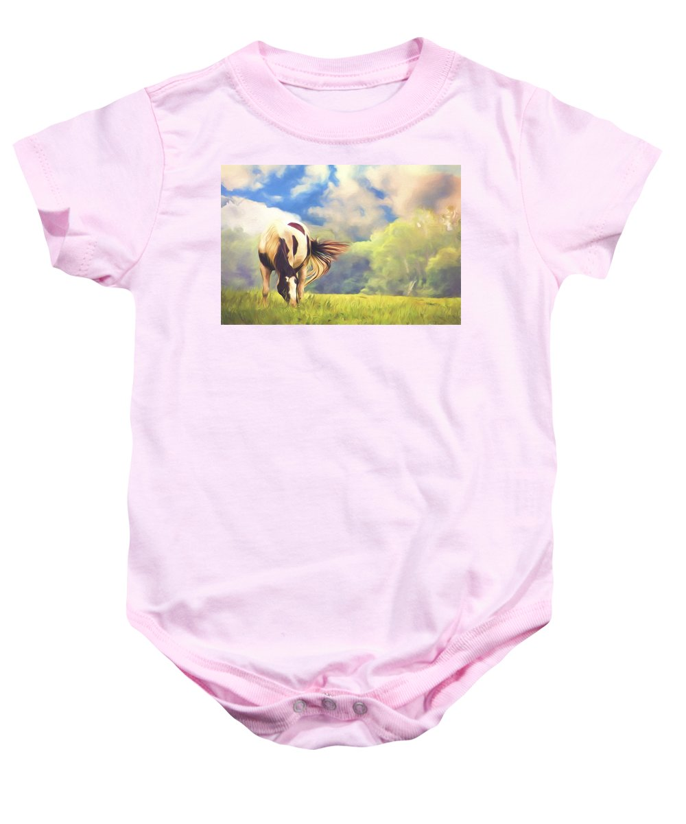 Horse Baby Onesie featuring the photograph Painted Colours by Alice Gipson