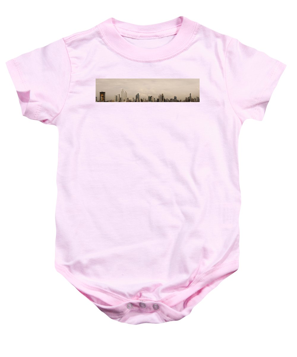 Panama City Baby Onesie featuring the photograph Panama City Skyline by Helix Games Photography