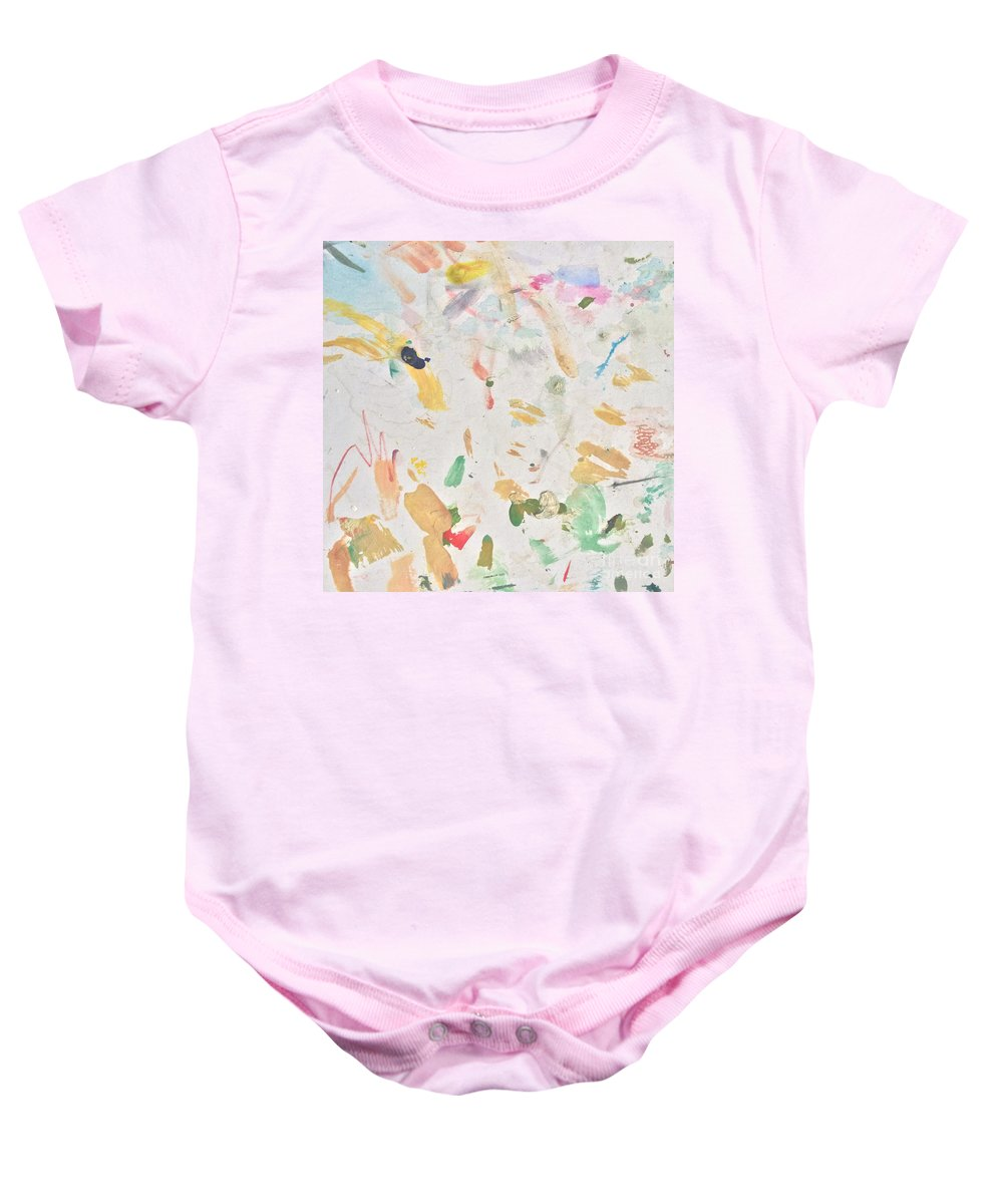 Party Baby Onesie featuring the painting Party People by Robin Maria Pedrero