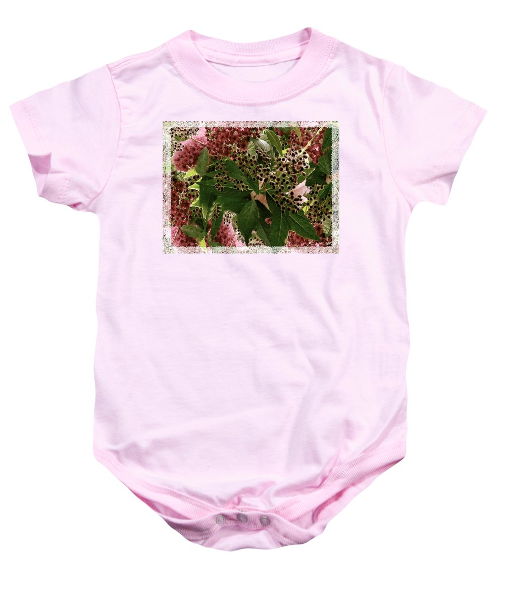 Christmas Baby Onesie featuring the painting Penny Postcard Christmas by RC DeWinter
