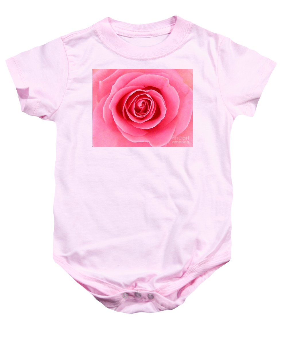 Perfect Rose Baby Onesie featuring the photograph Perfect Rose by Bev Conover