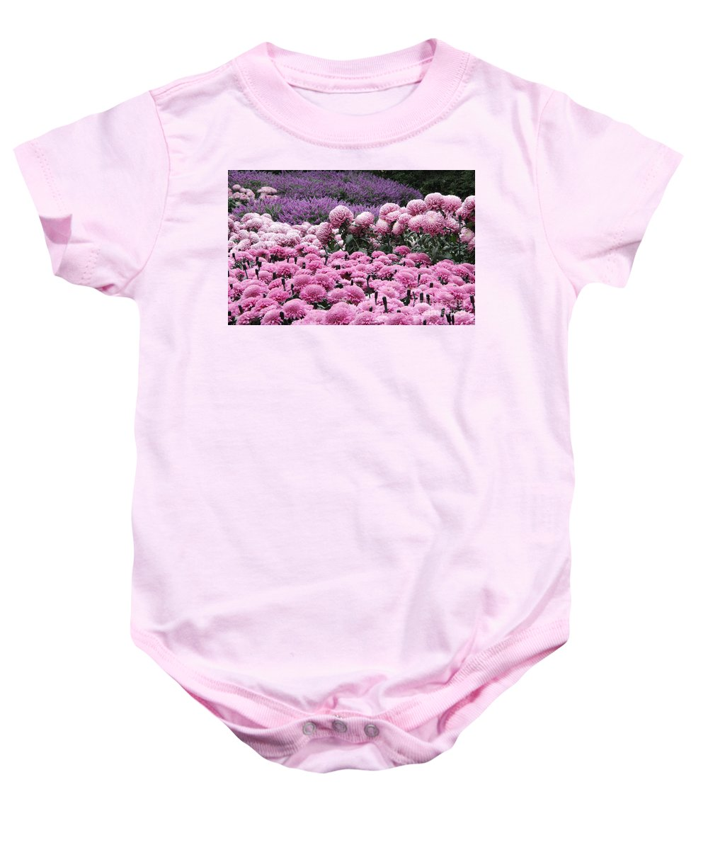 Pink Baby Onesie featuring the photograph Pink Waves by Adrienne Franklin
