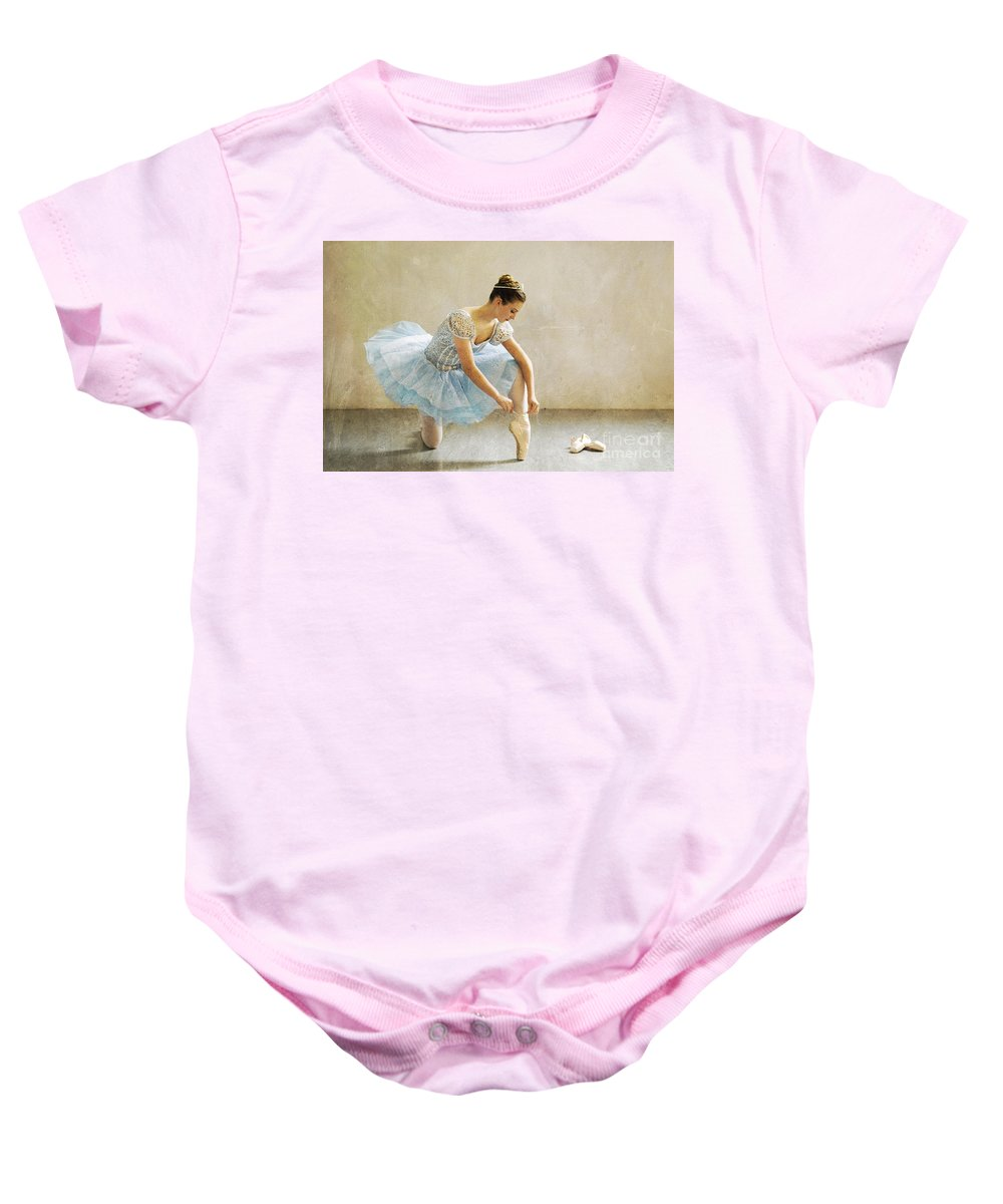 Ballet Baby Onesie featuring the photograph Preparation For Dance - D008548-a by Daniel Dempster