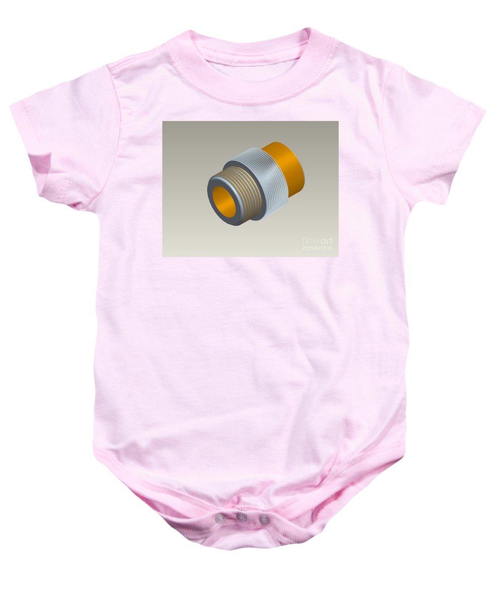 Pro-e Baby Onesie featuring the photograph Pro-e Part Design by Eric Schiabor