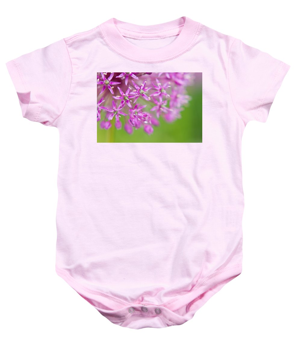 Flower Baby Onesie featuring the photograph Purple Fireworks by Lindley Johnson