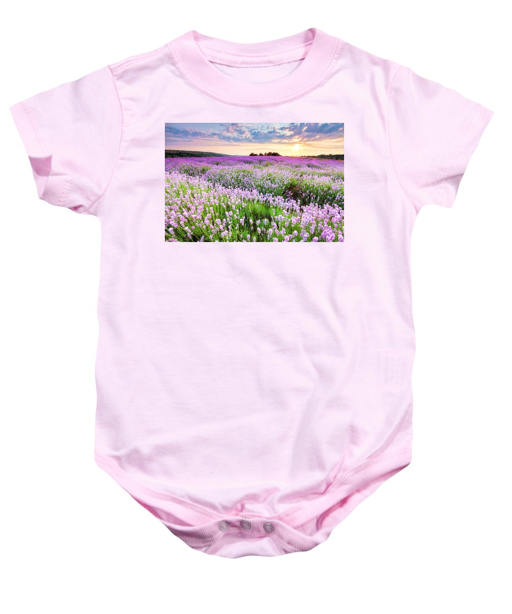Bulgaria Baby Onesie featuring the photograph Purple Sea by Evgeni Dinev