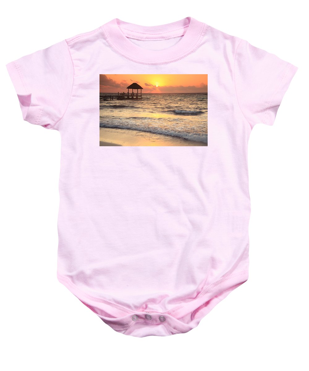 Quiet Time Baby Onesie featuring the photograph Quiet Time by Roupen Baker