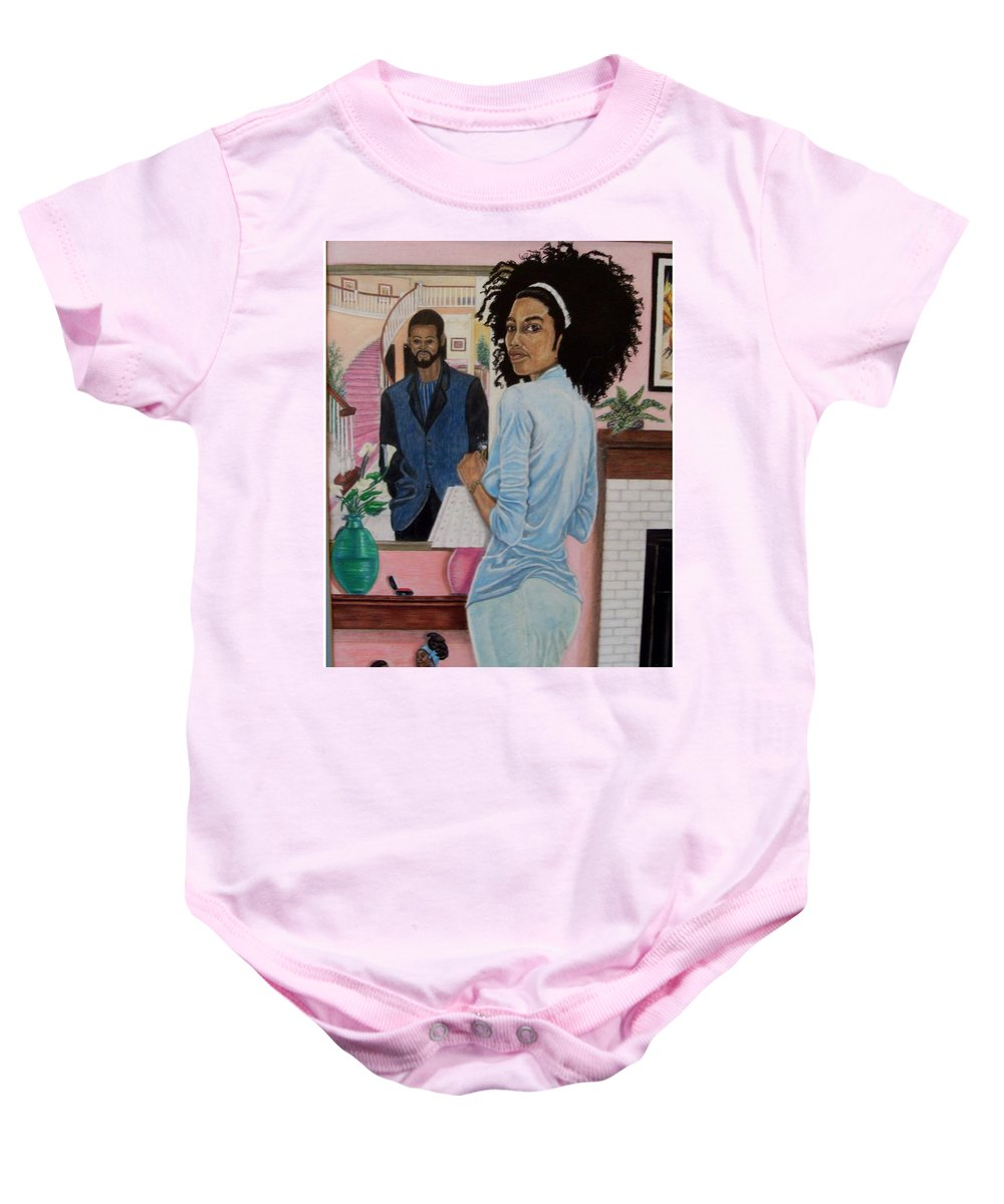 Figurative Baby Onesie featuring the painting Reflection To Matramony by Arron Kirkwood