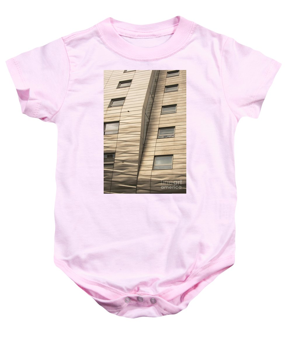 Chelsea High Line Residential Building New York City Cityscape Cityscapes Buildings Architecture Cities Structure Structures Window Windows Baby Onesie featuring the photograph Chelsea High Line Residential Building by Bob Phillips