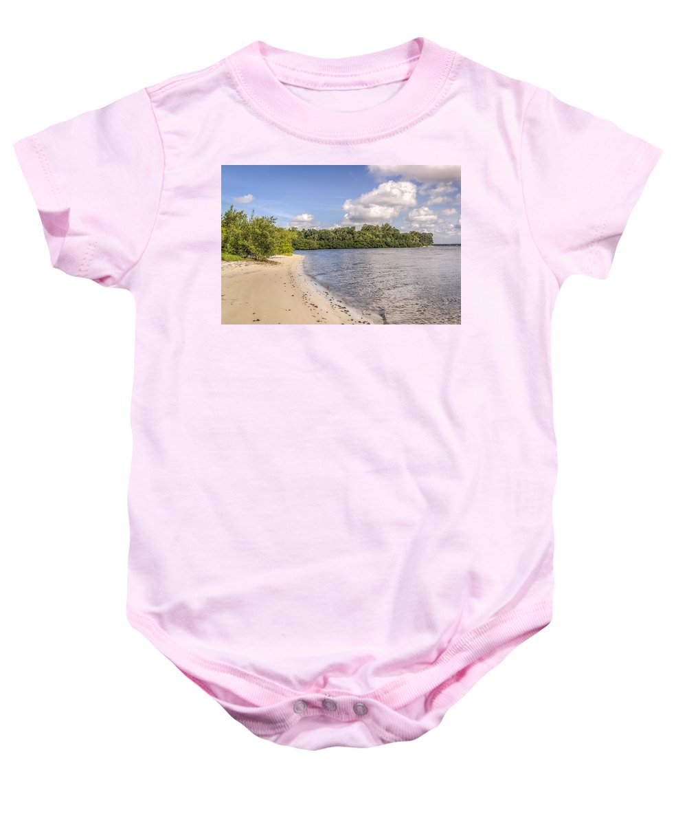 Florida Baby Onesie featuring the photograph Sandy Beach by Jane Luxton
