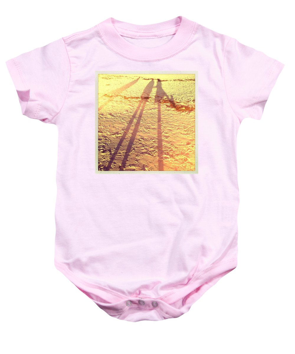 Sand Baby Onesie featuring the photograph Sandy Long Legs by Kelly King