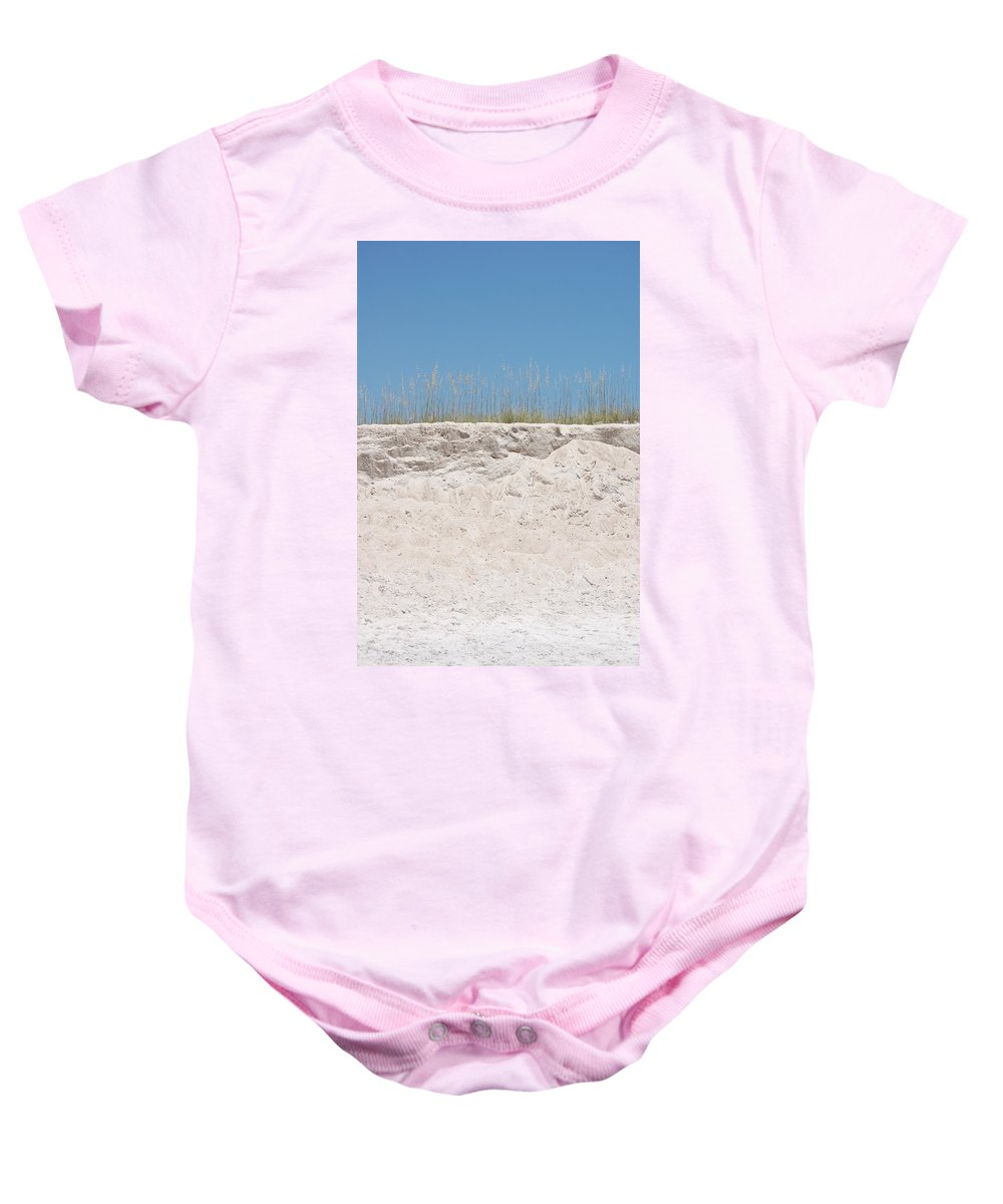 Dunes Baby Onesie featuring the photograph Sea Oat Love by May Photography
