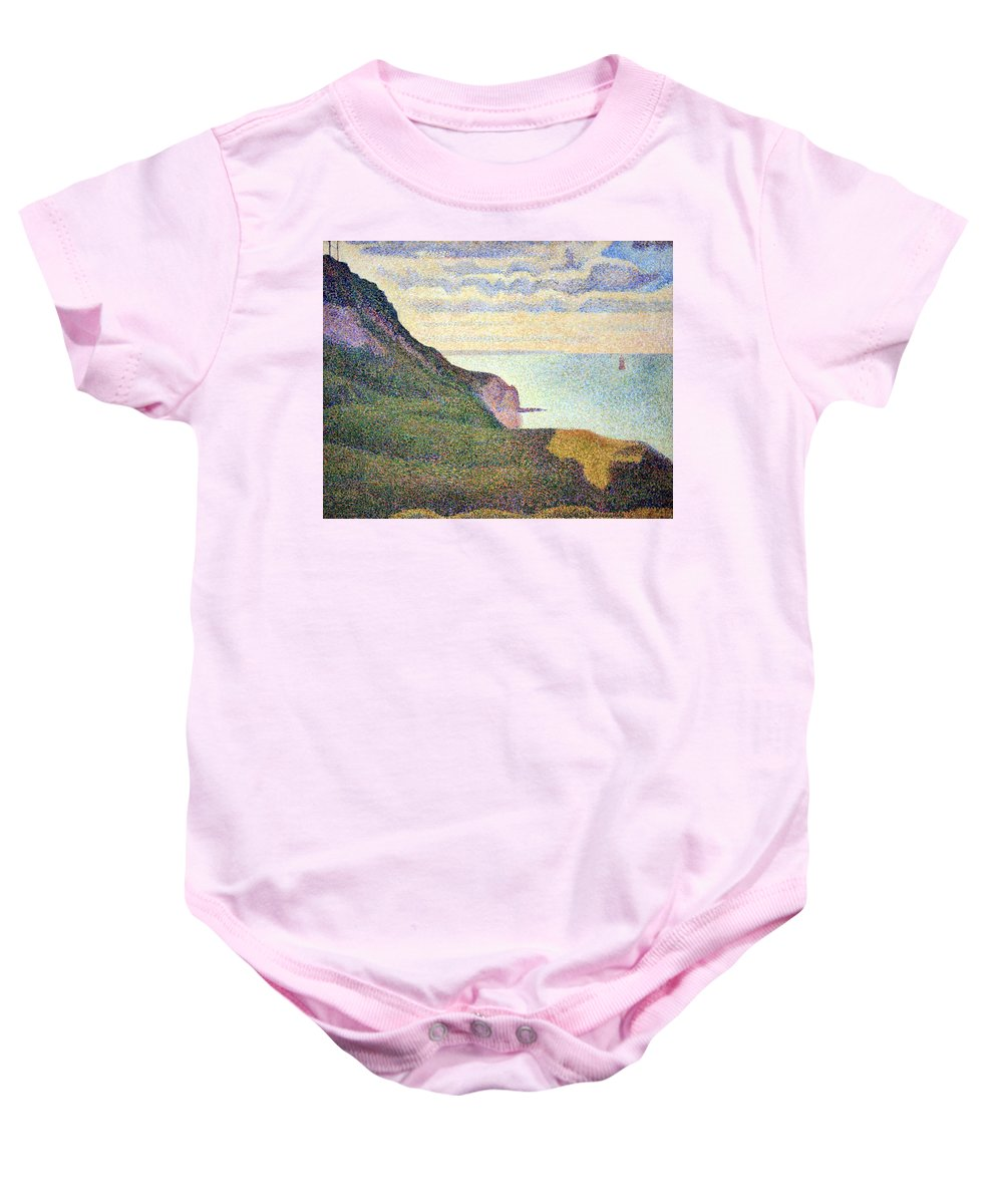 Seascape At Port-en-bessin Baby Onesie featuring the photograph Seurat's Seascape At Port Bessin In Normandy by Cora Wandel