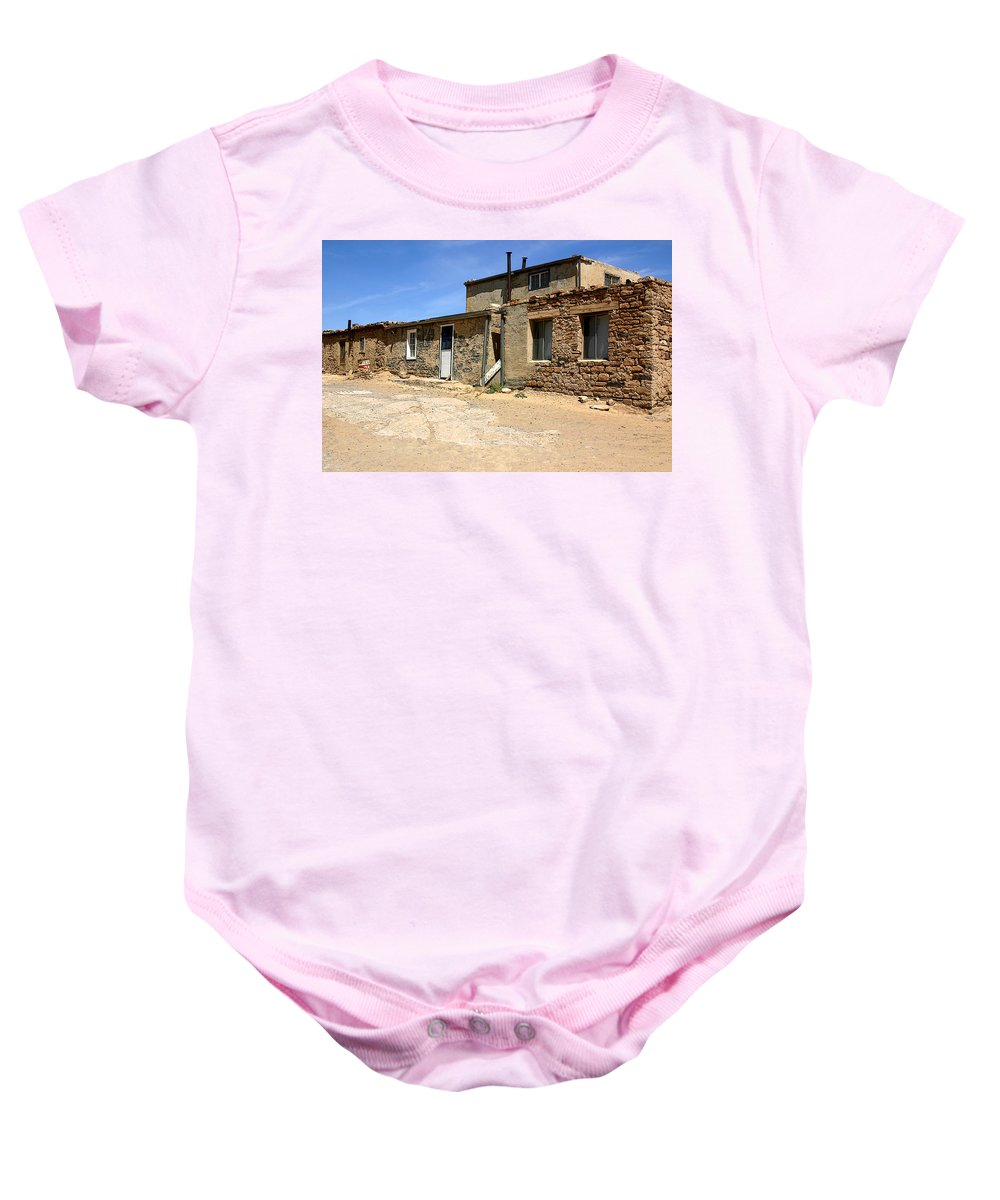 Pueblo Baby Onesie featuring the photograph Sky House by Joe Kozlowski
