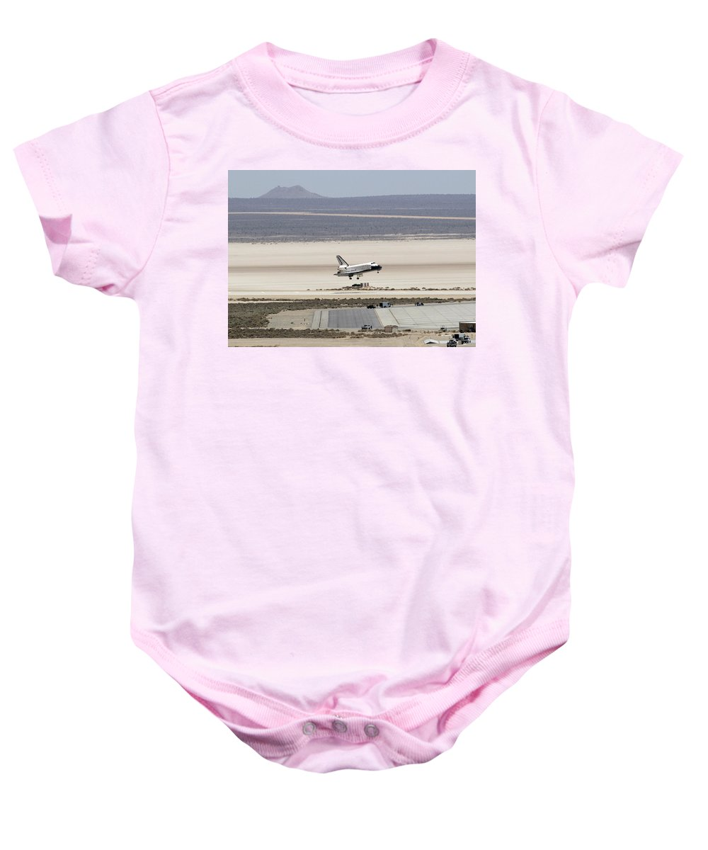 Astronomy Baby Onesie featuring the photograph Space Shuttle Atlantis Landing by Science Source
