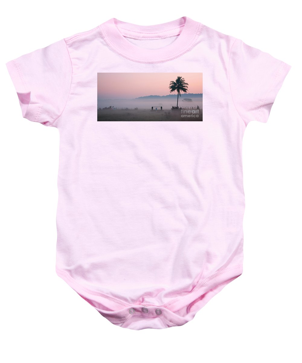Morning Baby Onesie featuring the photograph Start by Dattaram Gawade