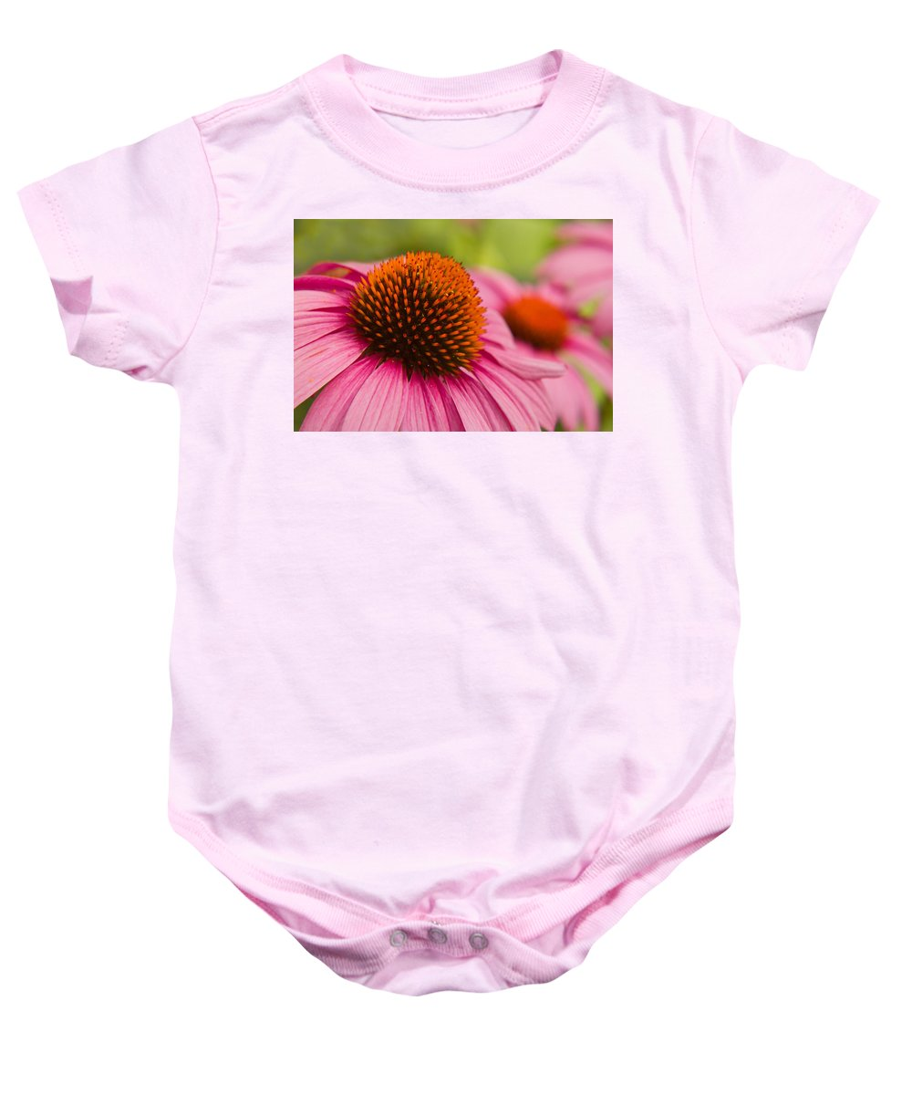 Pink Baby Onesie featuring the photograph Summer Cone by Lindley Johnson