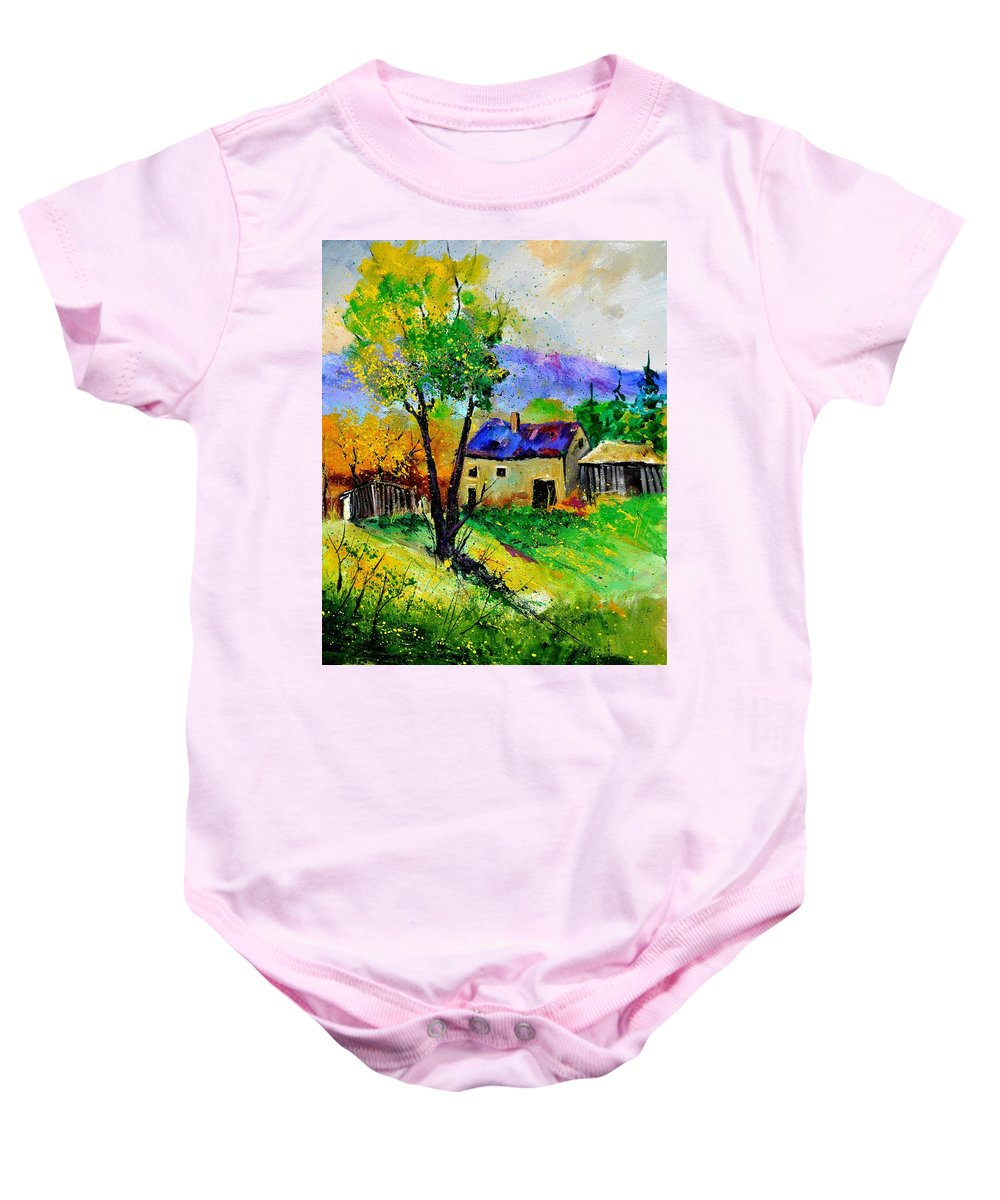Landscape Baby Onesie featuring the painting Summer Landscape 316062 by Pol Ledent