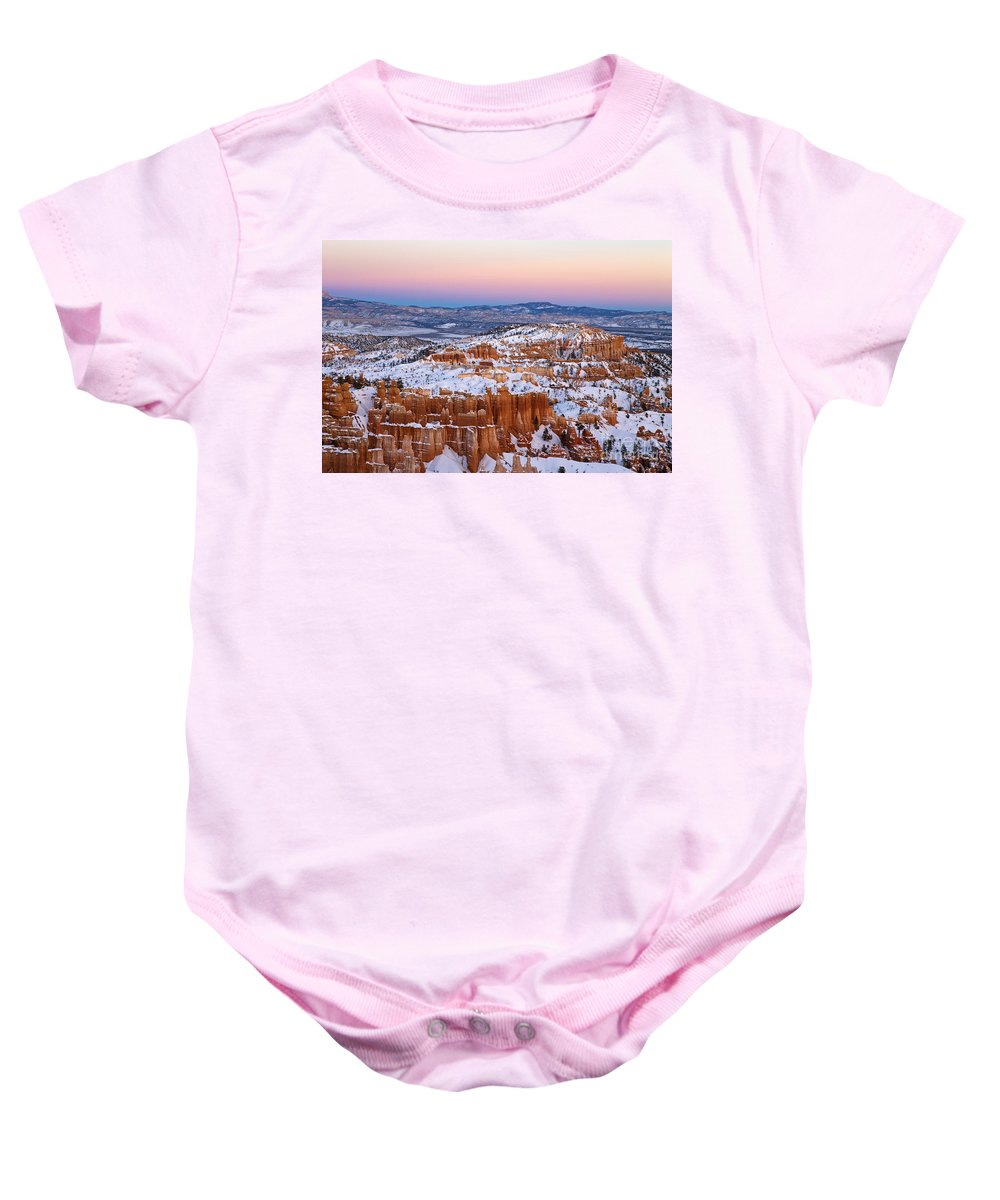 Bryce Canyon Baby Onesie featuring the photograph Sunset At Bryce Canyon National Park Utah by Jason O Watson