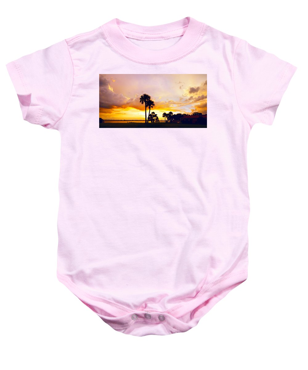 Landscape Baby Onesie featuring the photograph Sunset Panorama by Francesa Miller