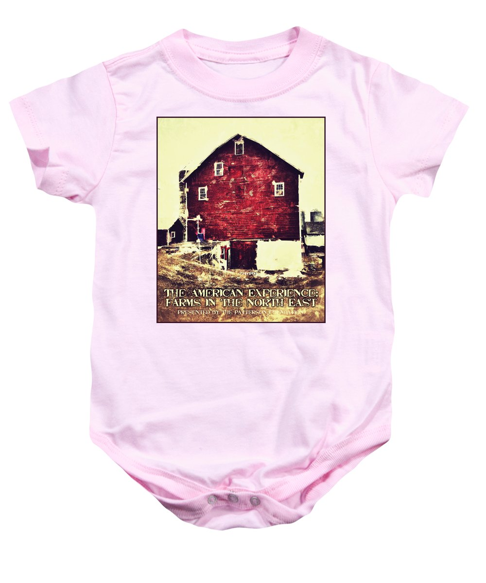 Poster Baby Onesie featuring the digital art The American Experience by H James Hoff