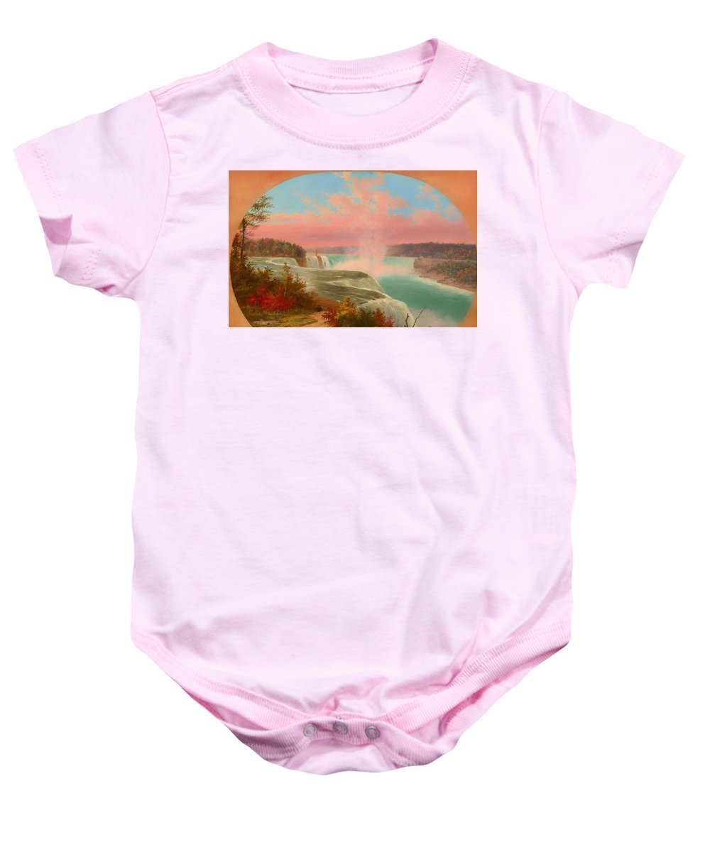 Painting Baby Onesie featuring the painting The Artist At Niagara by Mountain Dreams
