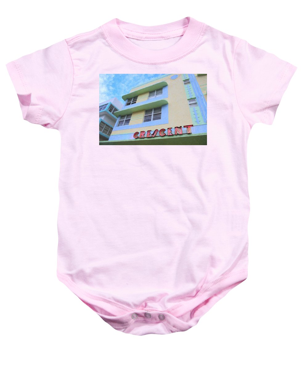 Art Deco Baby Onesie featuring the photograph The Crescent by Tom Reynen