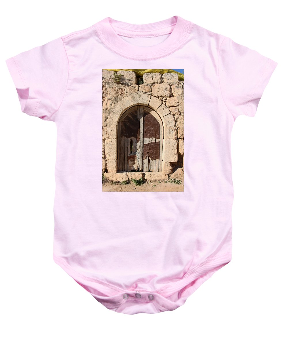 Ad-dhahiriya Baby Onesie featuring the photograph The Crying Door by Munir Alawi